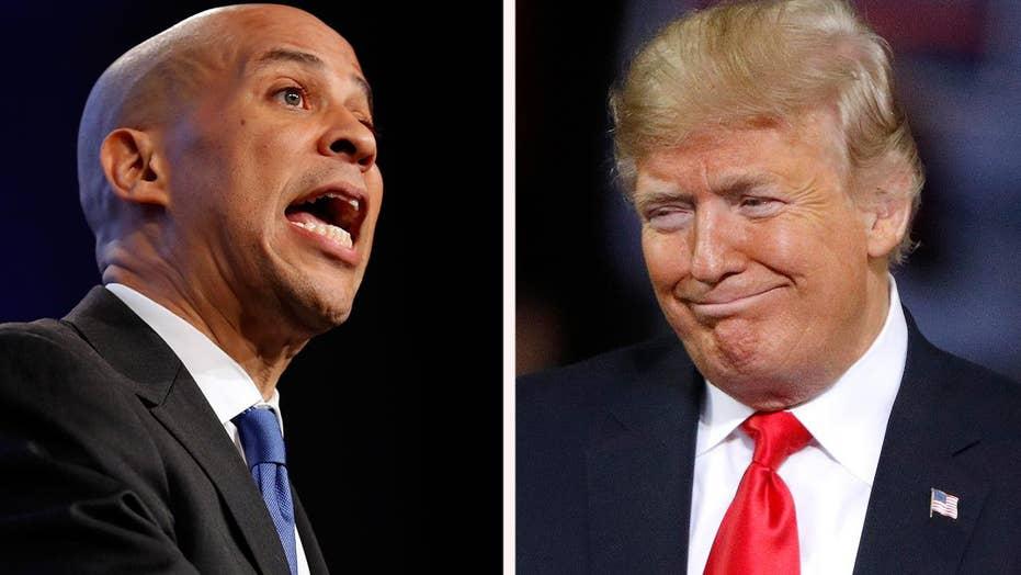 Cory Booker criticizes President Trump in Iowa
