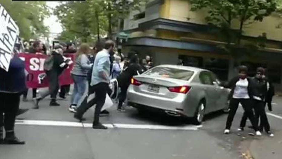 Mob rule? Leftist protesters take over Portland street