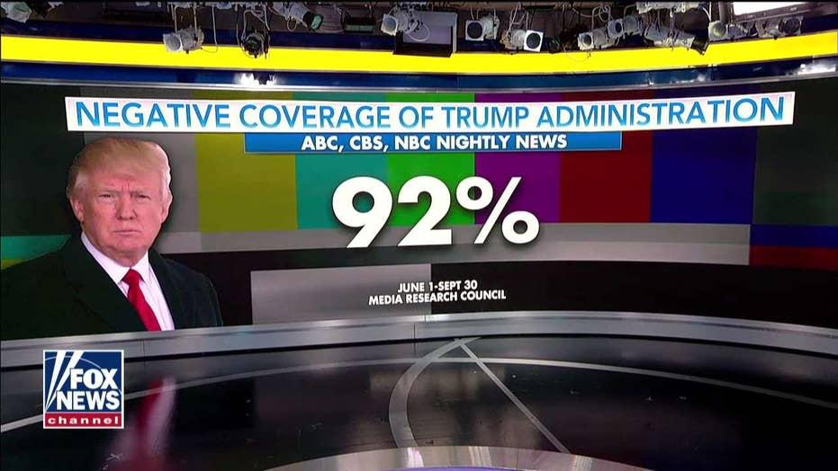 Study: 92 Percent of Trump Media Coverage 'Negative'