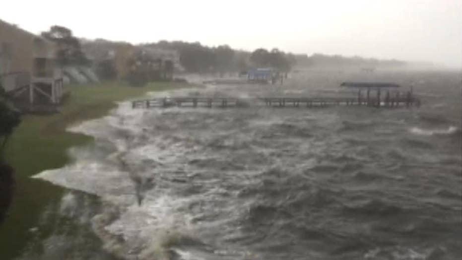 Dangerous storm surge threatens Alligator Point, Florida