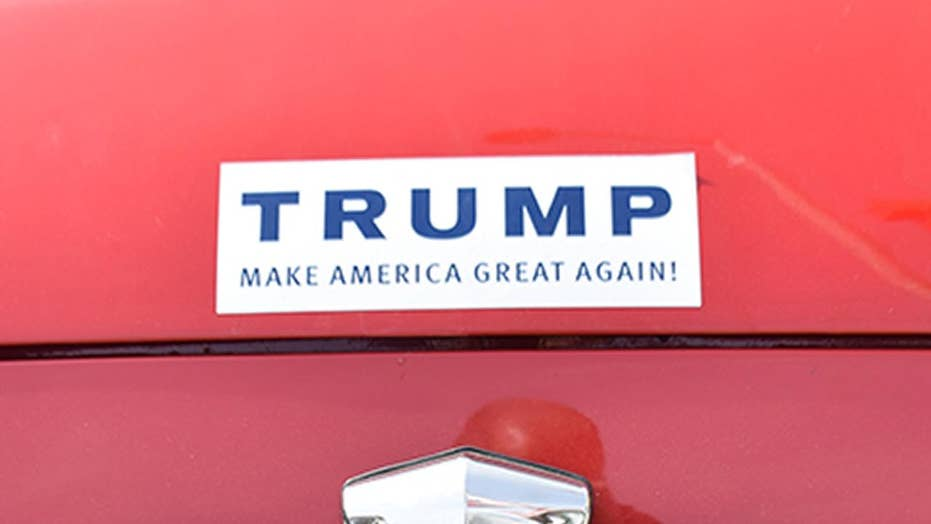 Truck set on fire because of pro-Trump stickers, owner says