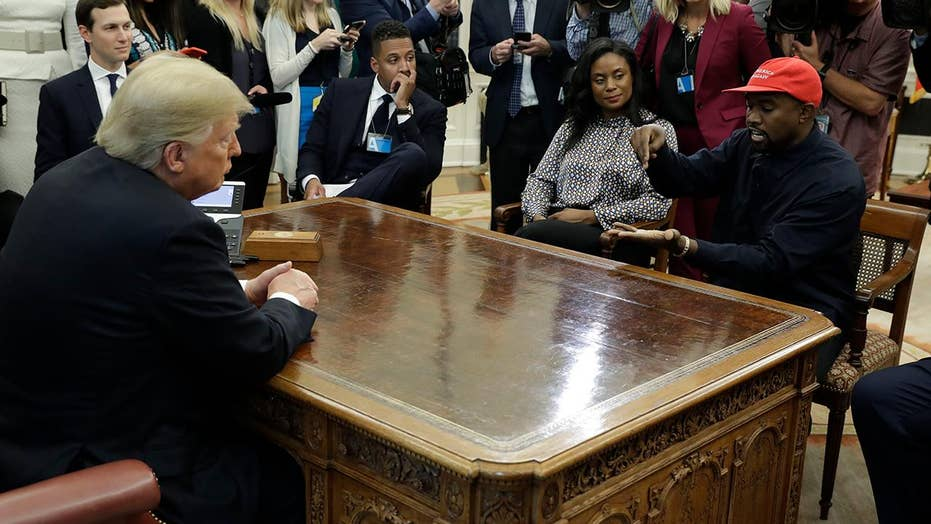 President Trump and rapper Kanye West meet in Oval Office