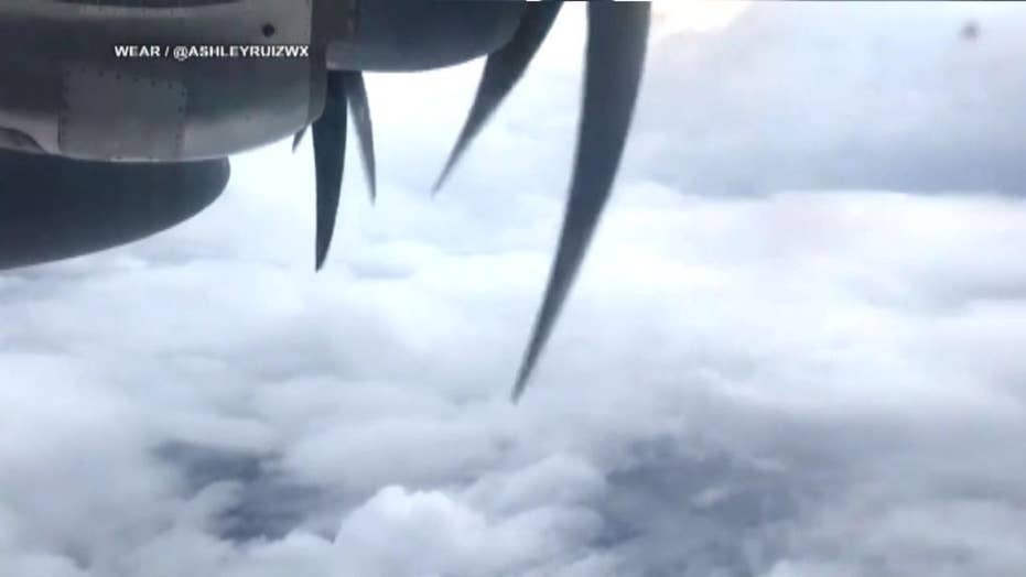 US Air Force Reserve Hurricane Hunters examine Michael