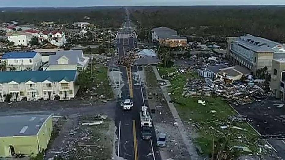 Drone video shows damage to Mexico Beach, Florida
