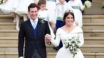 Prince Andrew shares photos from Princess Eugenie's wedding reception