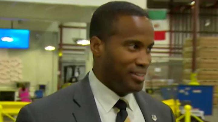GOP Senate hopeful looks to win over African-American vote