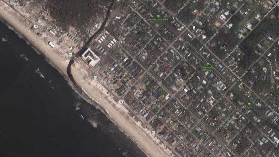 Dramatic before and after images of Hurricane Michael damage