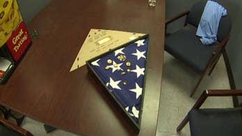 Navy veteran finds, returns long-lost burial flag to Navy hero's widow