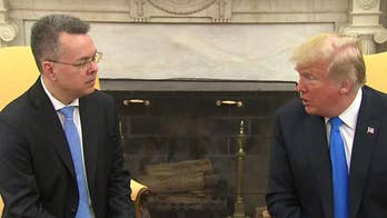 Trump meets with freed American pastor Andrew Brunson in Oval Office