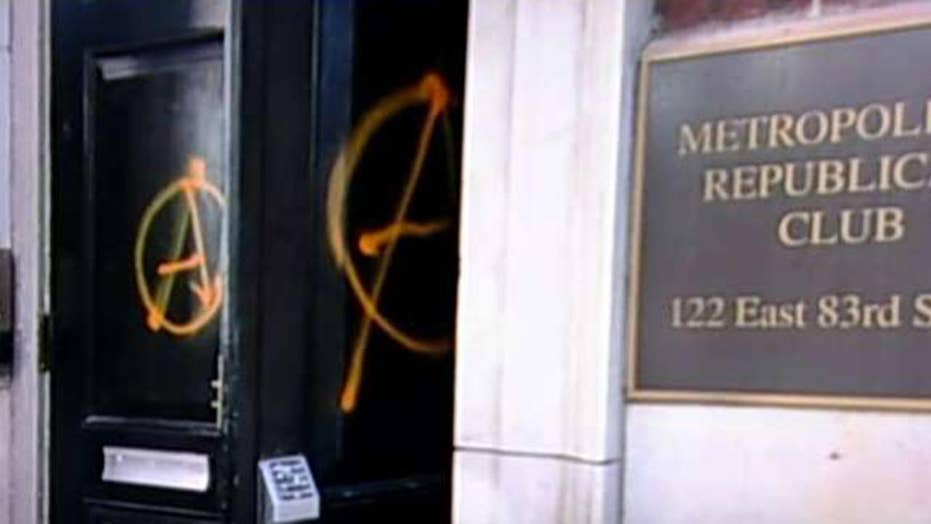 Antifa vandalizes NYC GOP headquarters