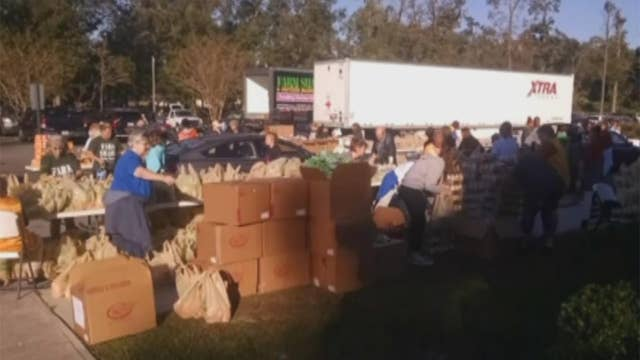 Volunteers rally to help Hurricane Michael victims