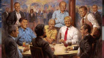 Artist tells story behind portrait of Trump with Republicans