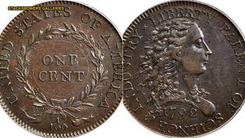 Extremely rare 1792 coin set for auction