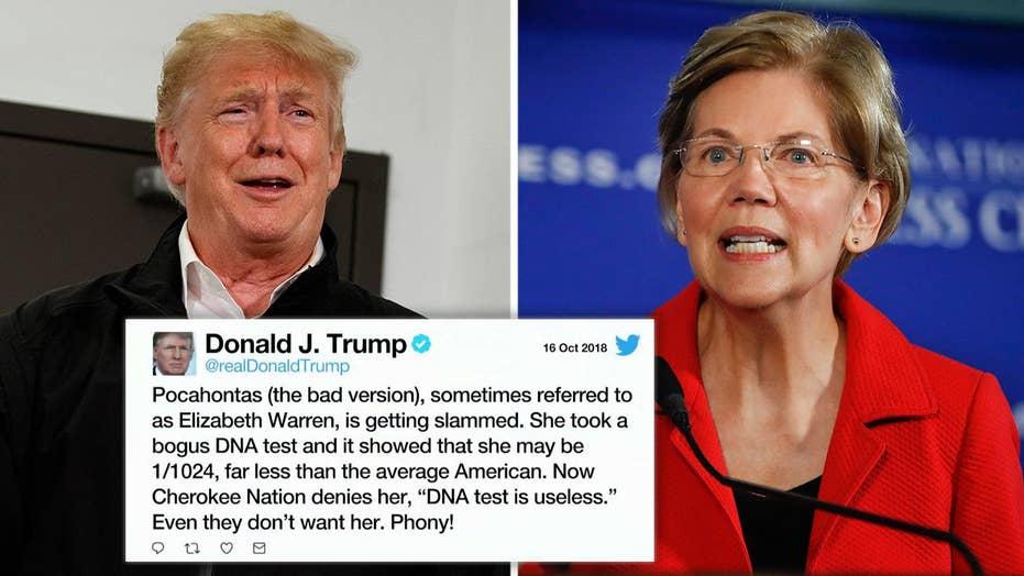 Trump demands Warren apologize for Cherokee ancestry 'fraud'