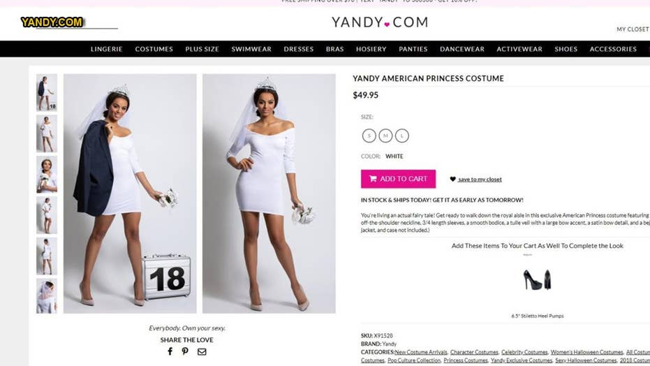 Yandy creates 'sexy' Duchess Meghan-inspired costume