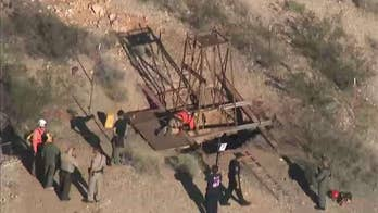 Arizona rescuers try saving man stuck in mine shaft for days