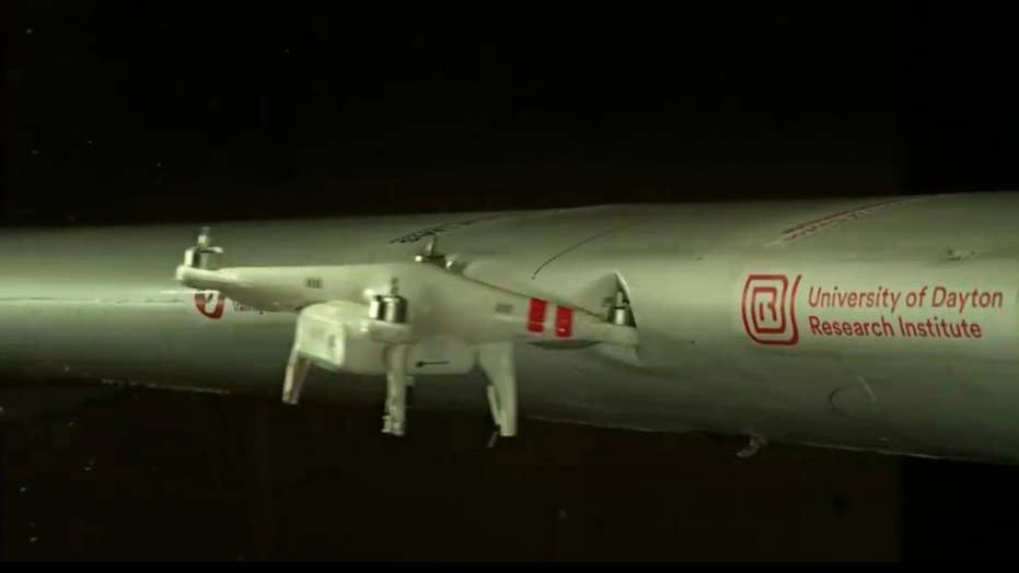 Video shows devastating damage drones can inflict on planes