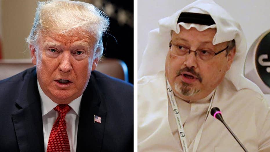 Trump says it 'certainly looks like' Khashoggi is dead