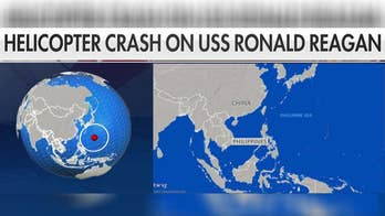 Helicopter crashes on USS Ronald Reagan