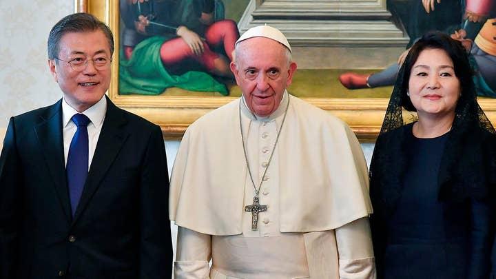 South Korea's president visits the Vatican