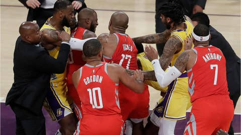 Brawl between Los Angeles Lakers and Houston Rockets