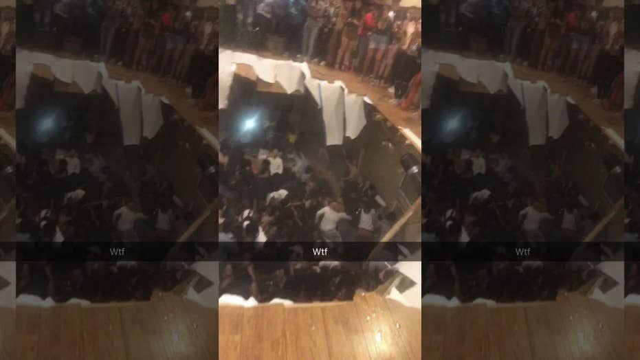 Shocking video: Clubhouse floor collapses during party