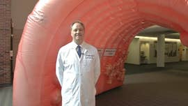 University of Kansas Cancer Center seeks return of giant inflatable colon