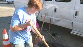 Good Samaritan aims to save her lifelong church from flooding by digging up the road