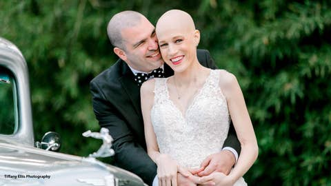 Bride with stage 4 breast cancer lives to see wedding