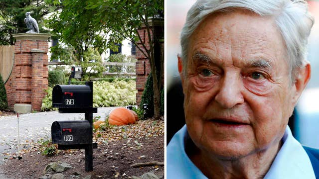 Explosive device found outside George Soros's home