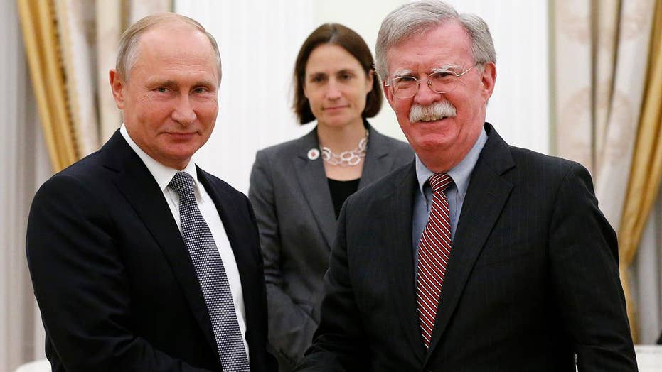 John Bolton meets with Russian President Putin in Moscow