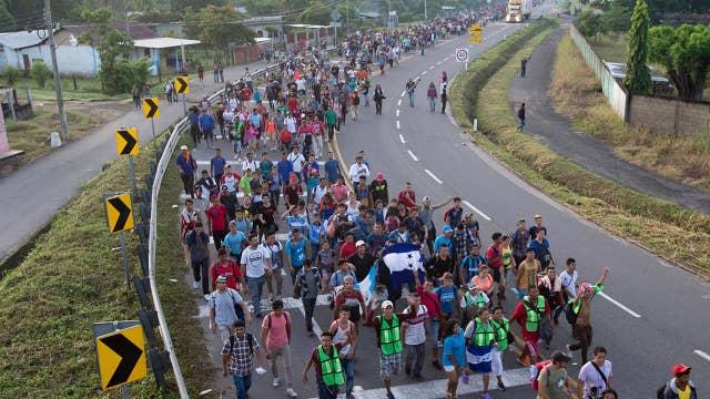 Carvan members hoping to board 'Beast' cargo train to border