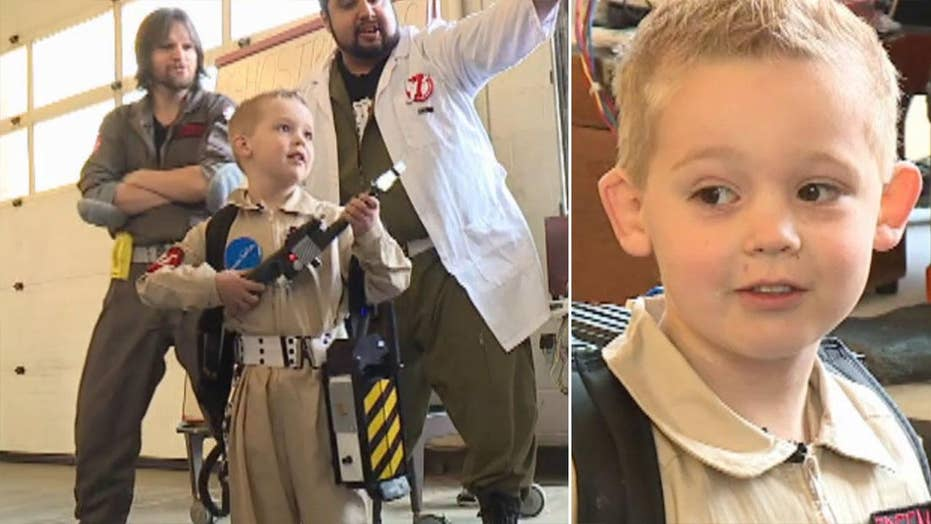 Make-A-Wish Foundation grants wish for a Ghostbuster