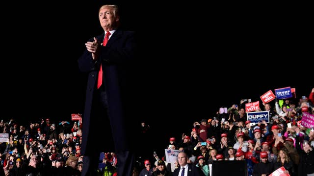 Behind the scenes of President Trump's Wisconsin rally