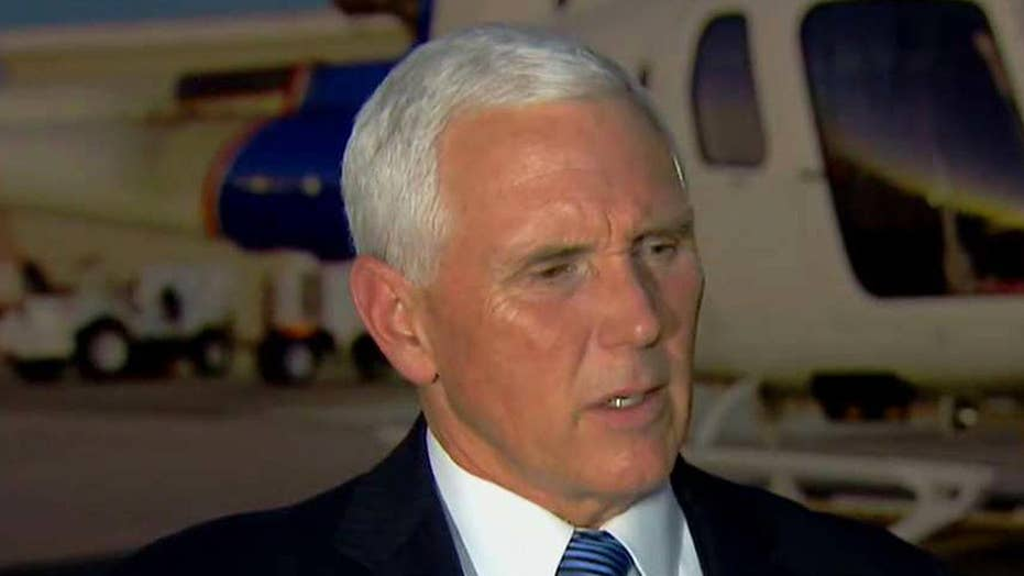 Pence calls out caravan's connection to the left