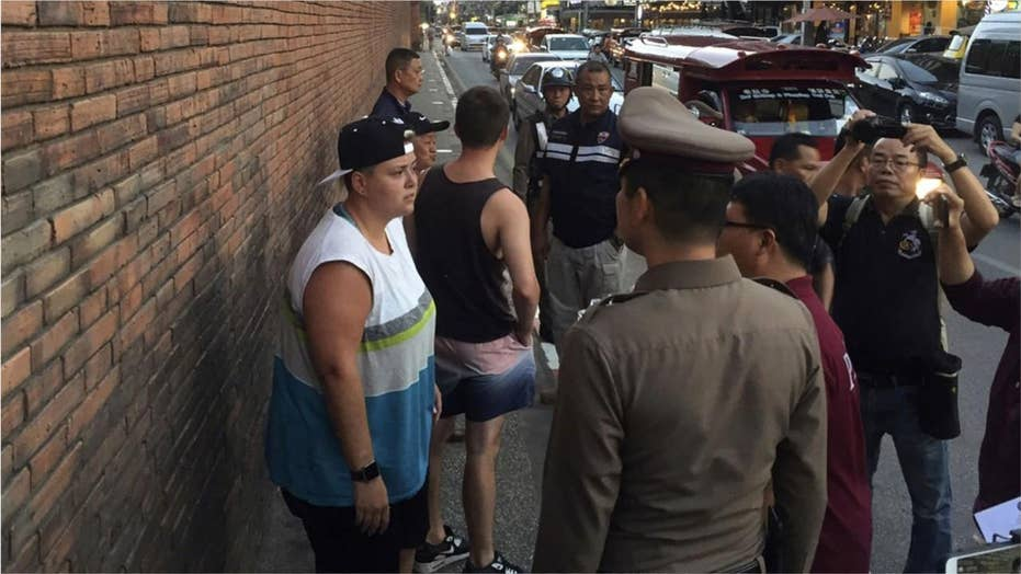 Two tourists face ten years in Thai jail over vandalism