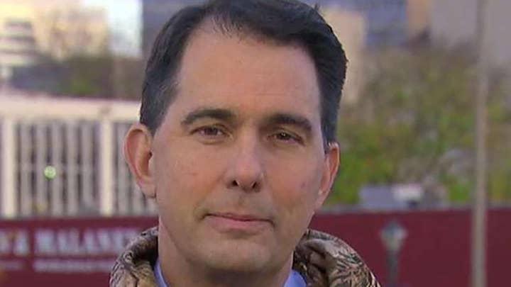 Gov. Scott Walker on tight re-election bid in Wisconsin