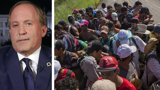 Texas AG on caravan: I don't think Trump will let them in thumbnail