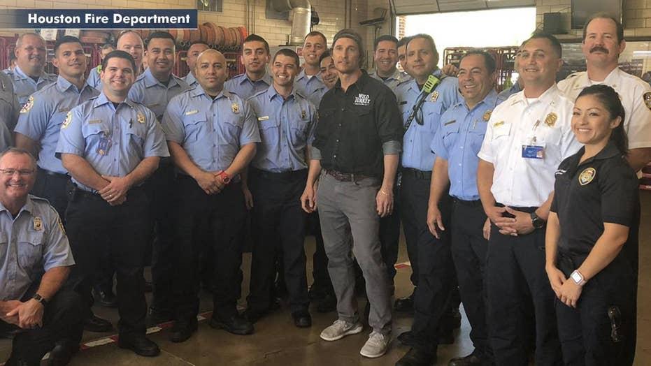 McConaughey honors first responders; Sheeran goes commando