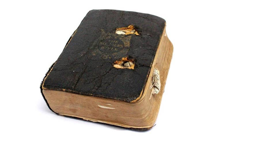 Bullet-scarred Bible 'saved the life' of WWI soldier
