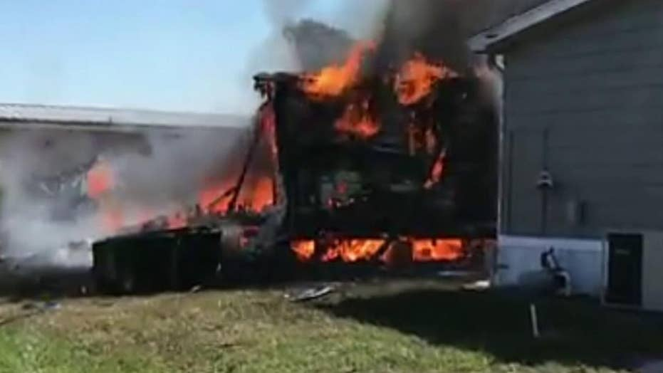 Raw video: Helicopter crash in Florida mobile home park