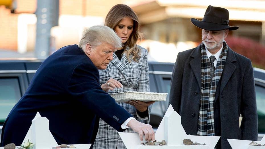 Trump visits Pittsburgh following synagogue massacre