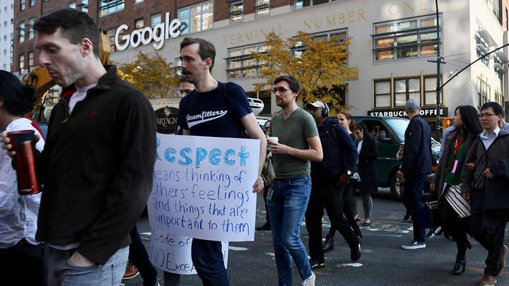 Google employees stage a walkout
