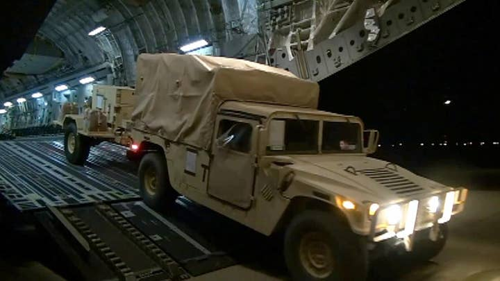 Raw Video: Active duty military forces arrive in Arizona