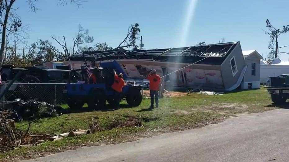 Jeep Wranglers tip back home toppled by Hurricane Michael