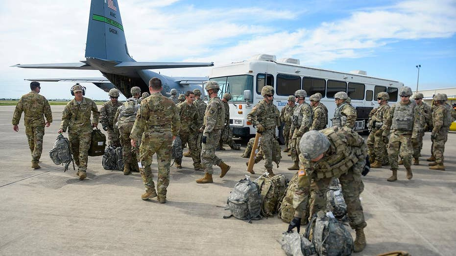 First wave of U.S. troops arriving at southern border