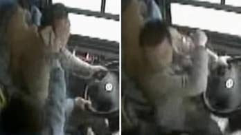 Bus driver seen fighting with passenger before deadly crash