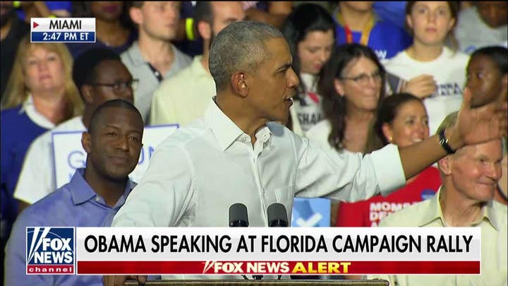 WATCH: Protesters Interrupt Obama as He Stumps for Gillum, Nelson in Florida