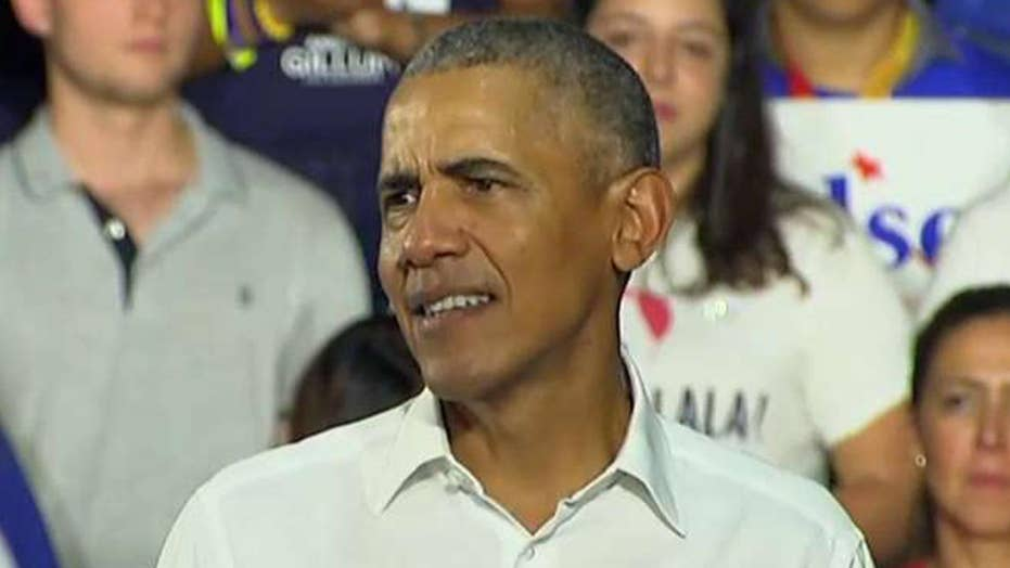 Obama responds to heckler at campaign rally in Miami