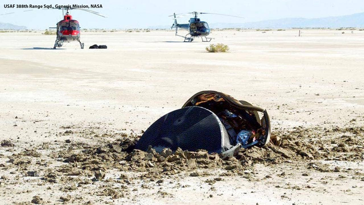 Image result for NASA posts photo of crashed 'flying saucer from outer space'